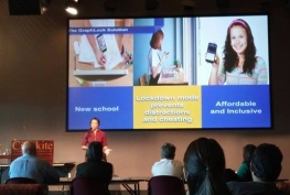 Mallory Dyer of GraphLock at 2017 Phoenix InnovateHER Grant and Pitch Showcase.