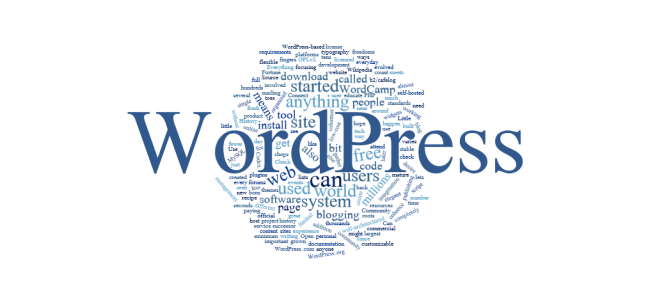 A graphic illustration featuring a word balloon sourced from a description or WordPress